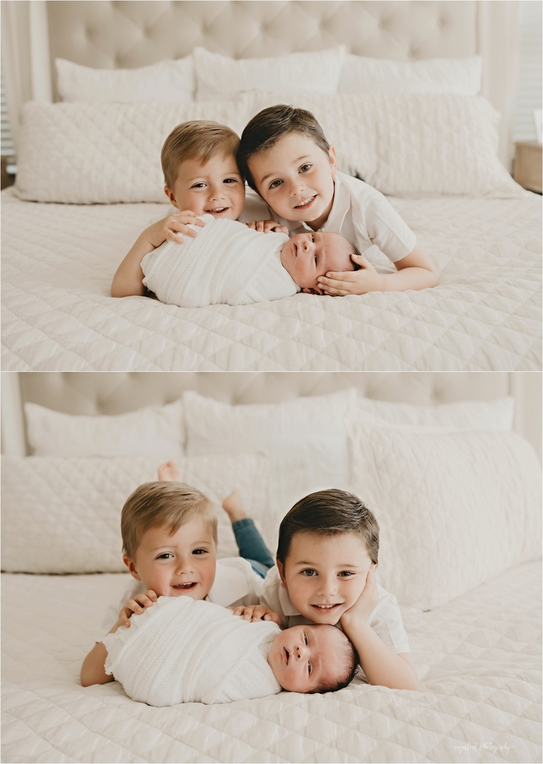 newborn session with siblings
