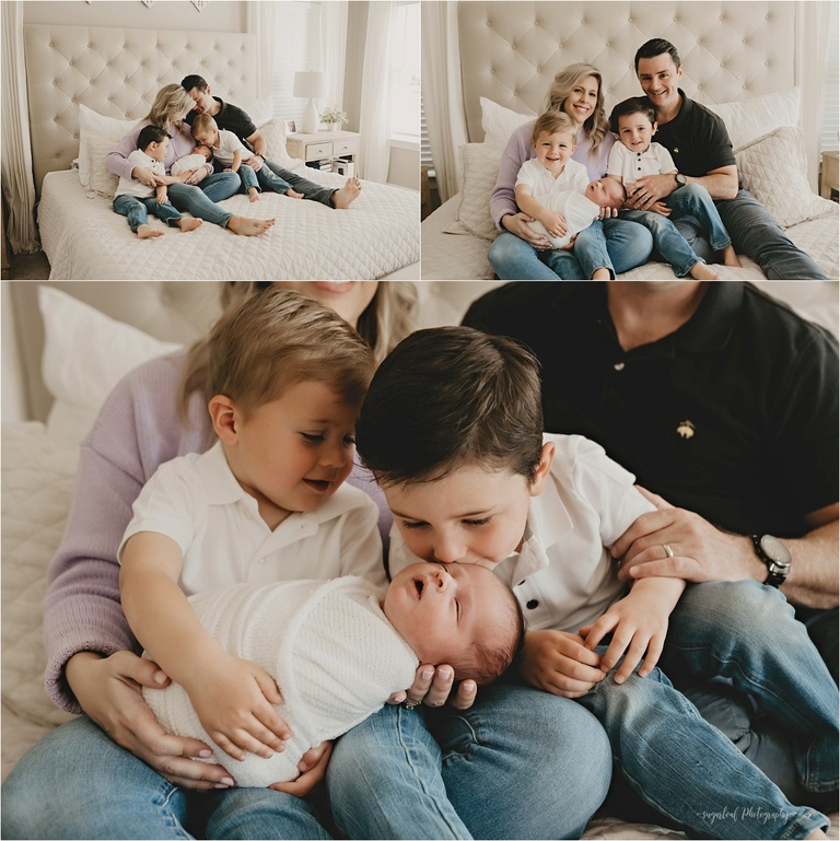 siblings in-home newborn session